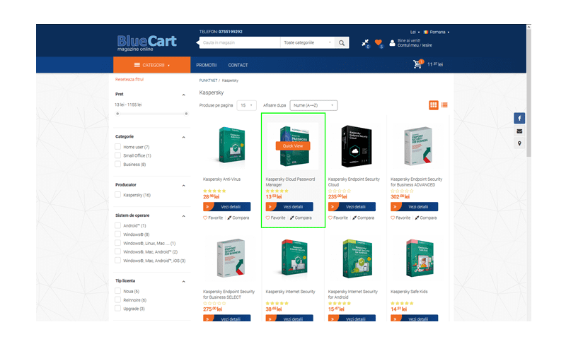 QuicK View Opencart